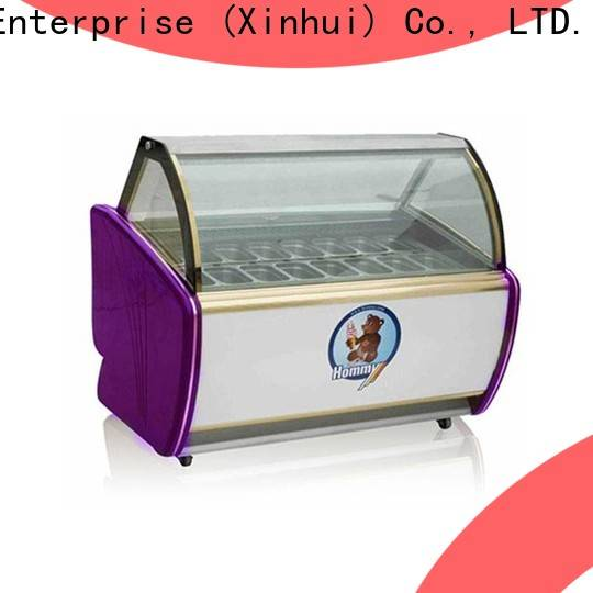 Hommy ice cream display case personalized