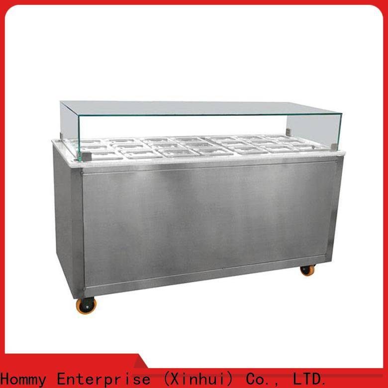 Hommy various colors ice cream display case wholesale