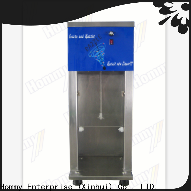 Hommy delicate appearance ice cream blender machine supplier