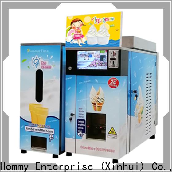 Hommy quality assurance vending machine ice cream factory
