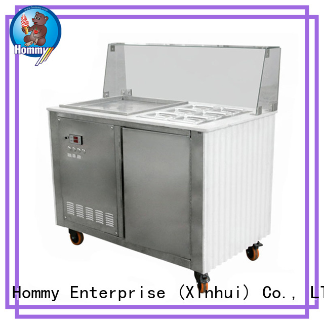 Hommy mobile rolled ice cream machine for sale 19℃ to -22℃ for outdoor