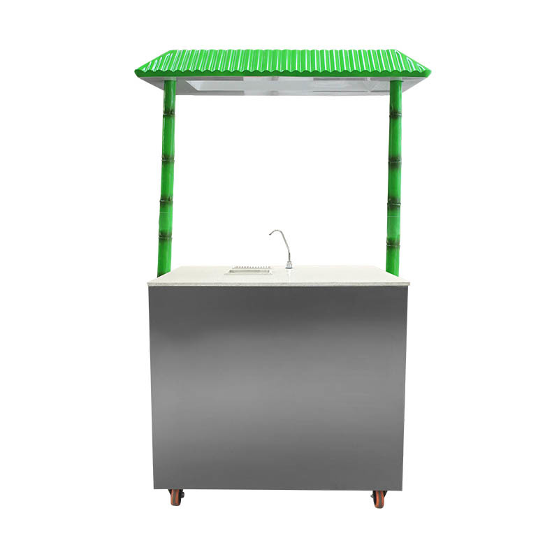 Sugarcane juice extractor machine with freezer