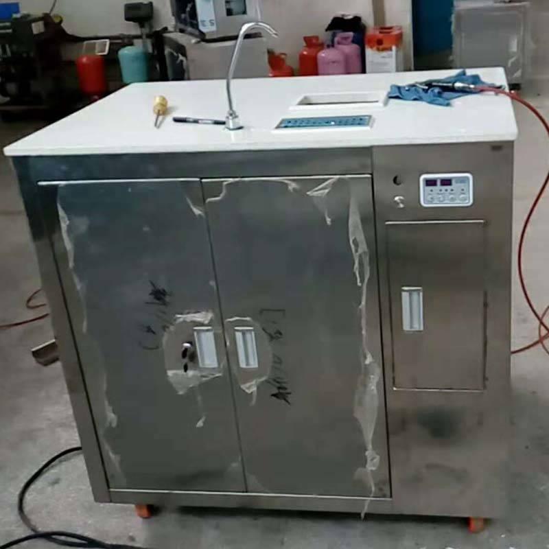 Sugarcane juice extractor machine with freezer