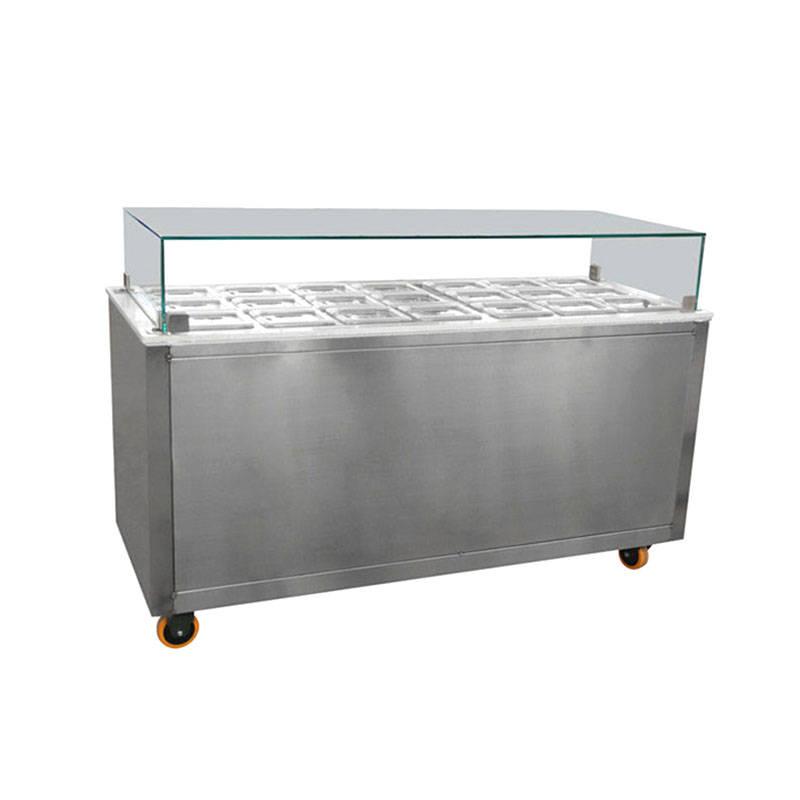 Toppings bar equipment&e cream display freezer