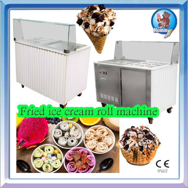 Thai fried Ice cream roll maker&ice cream roll machine