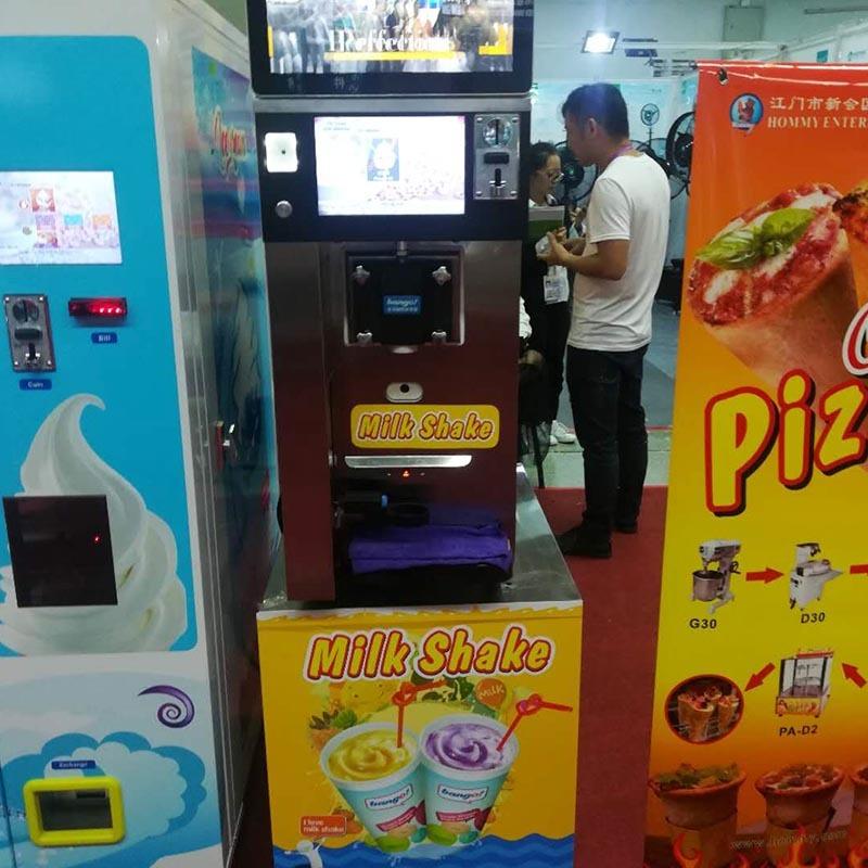 Vending milk shake machine