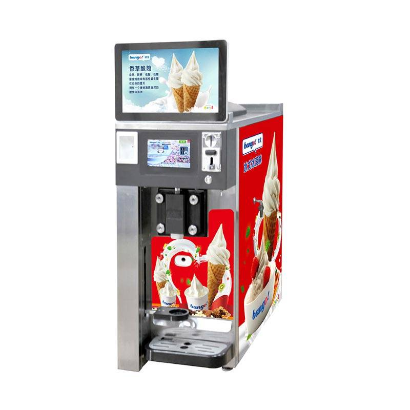 Table top vending ice cream machine