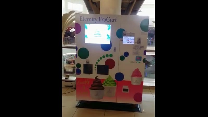 ice cream equipment video of Malaysia mall