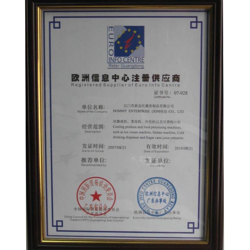 European information center registered supplier -small