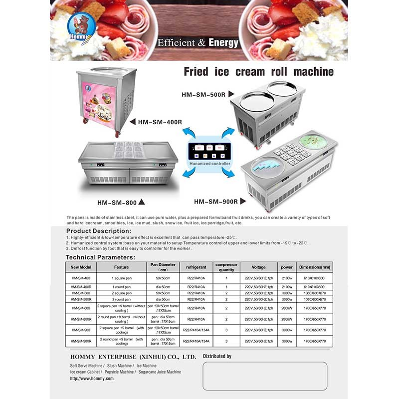 Information of Fried ice cream roll machine