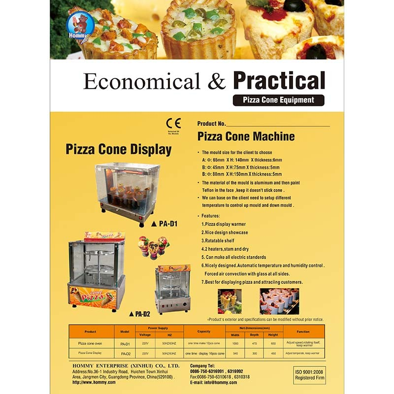 Information of Pizza cone machine