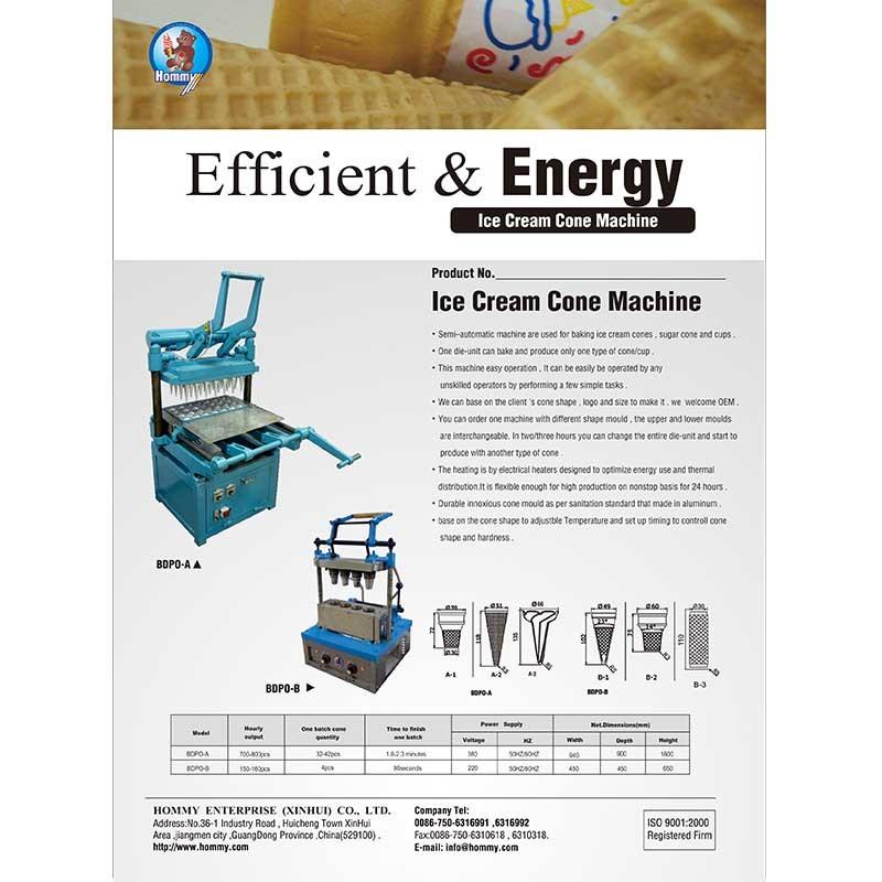 Information of  Ice cream cone machine