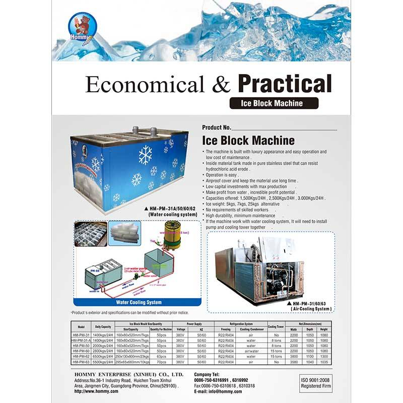 Information of  Ice block and ice maker