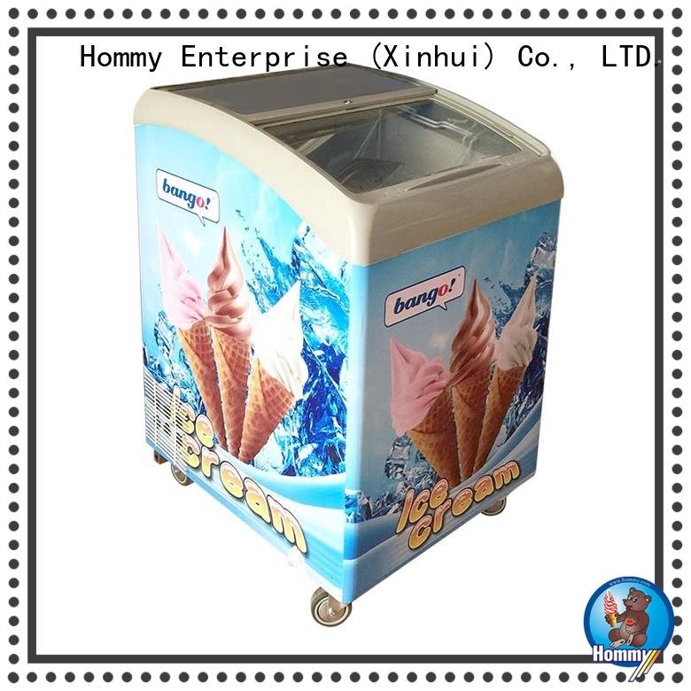 Hommy China popsicle display freezer storage refrigerator for display ice cream