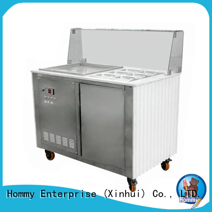 Hommy highly-efficient ice cream roll equipment eco-friendly for road house