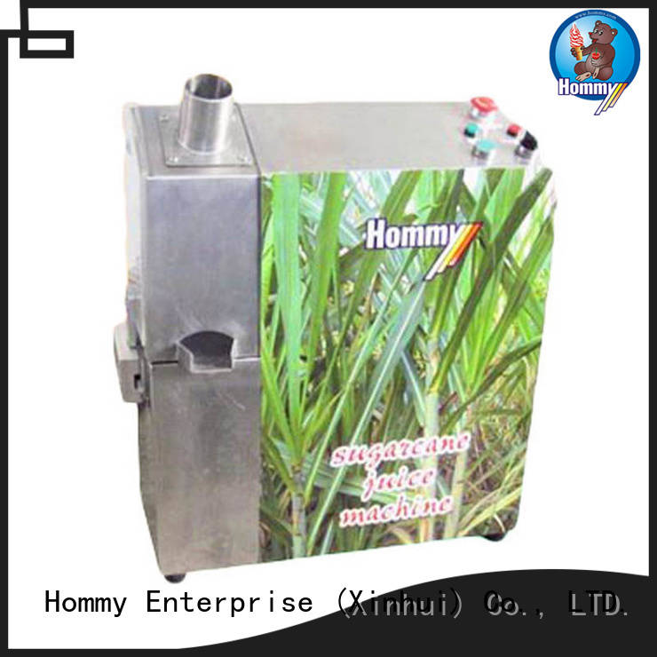 Hommy professional sugarcane automatic juice machine hygienic for supermarket