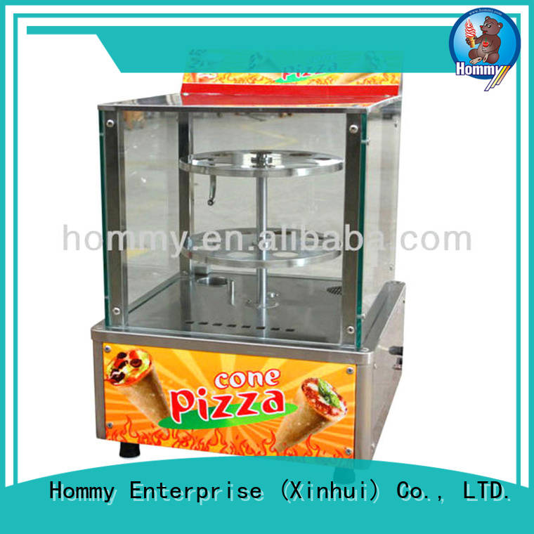 pizza cone oven with pre-cooling system for ice cream shops