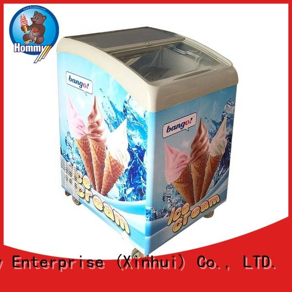 Hommy various colors ice cream display freezer supplier for ice cream shop