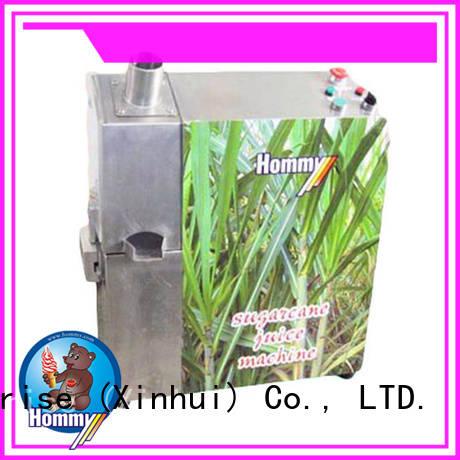 Hommy unreserved service sugar cane juicer extractor manufacturer for food shop