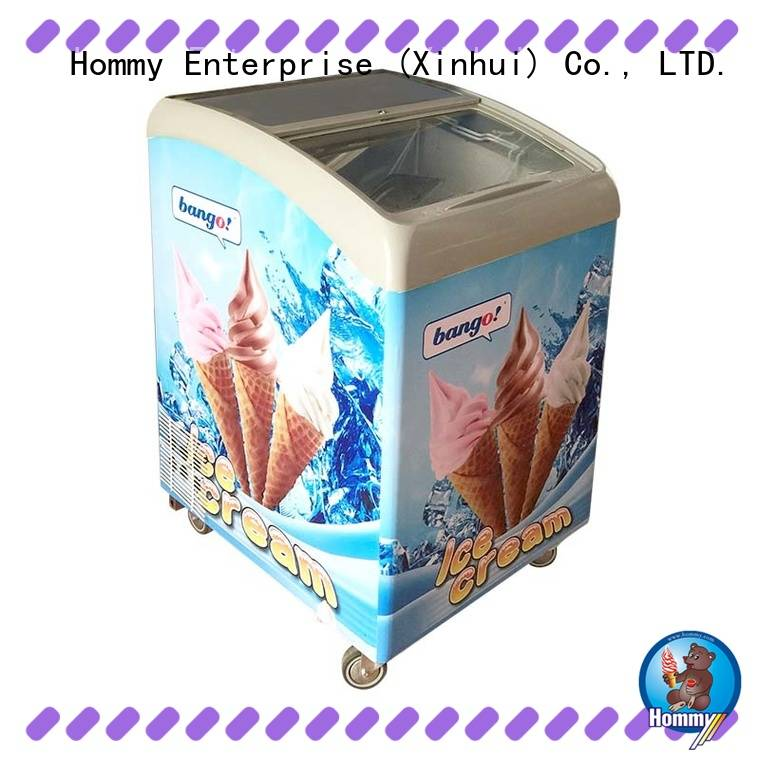 multifunctional ice cream showcase commercial from China for ice cream shop