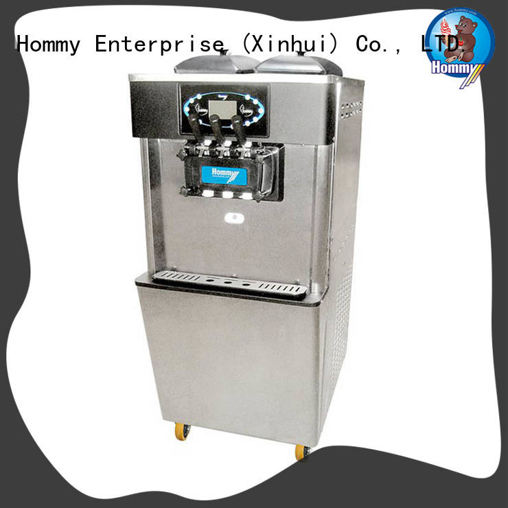 Hommy commercial soft serve ice cream machine wholesale for supermarket