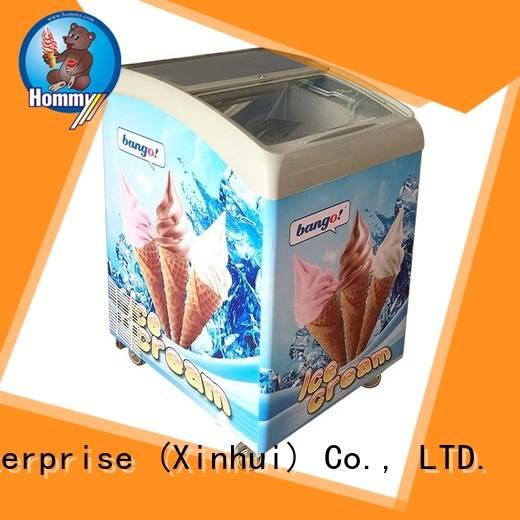 Hommy various colors gelato freezer freezer for ice cream shop