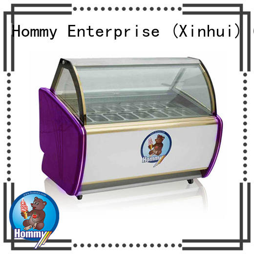 Hommy ice cream display counter wholesale for ice cream shop