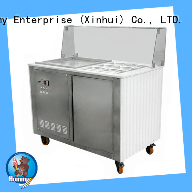 eco-friendly fried ice cream machine for sale low-temperature effect for road house Hommy