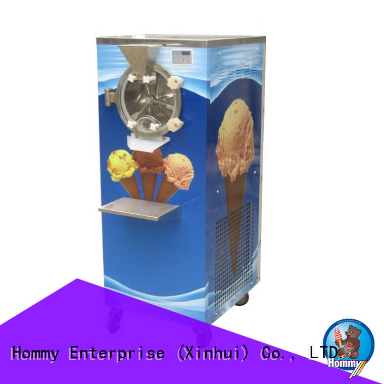Hommy fresh new design professional ice cream machine supplier for bake shop