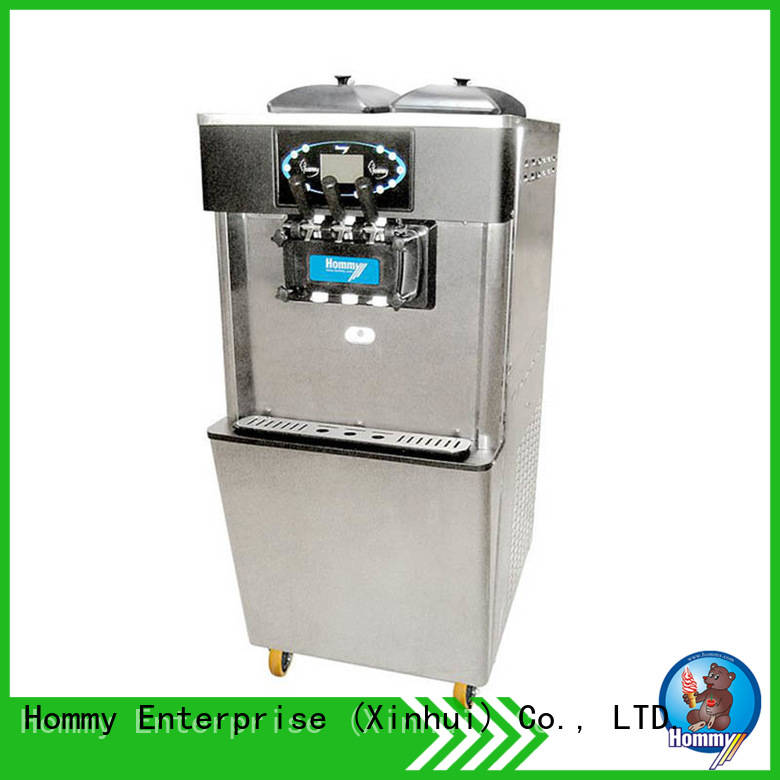 Hommy unreserved service soft serve ice cream maker wholesale for supermarket
