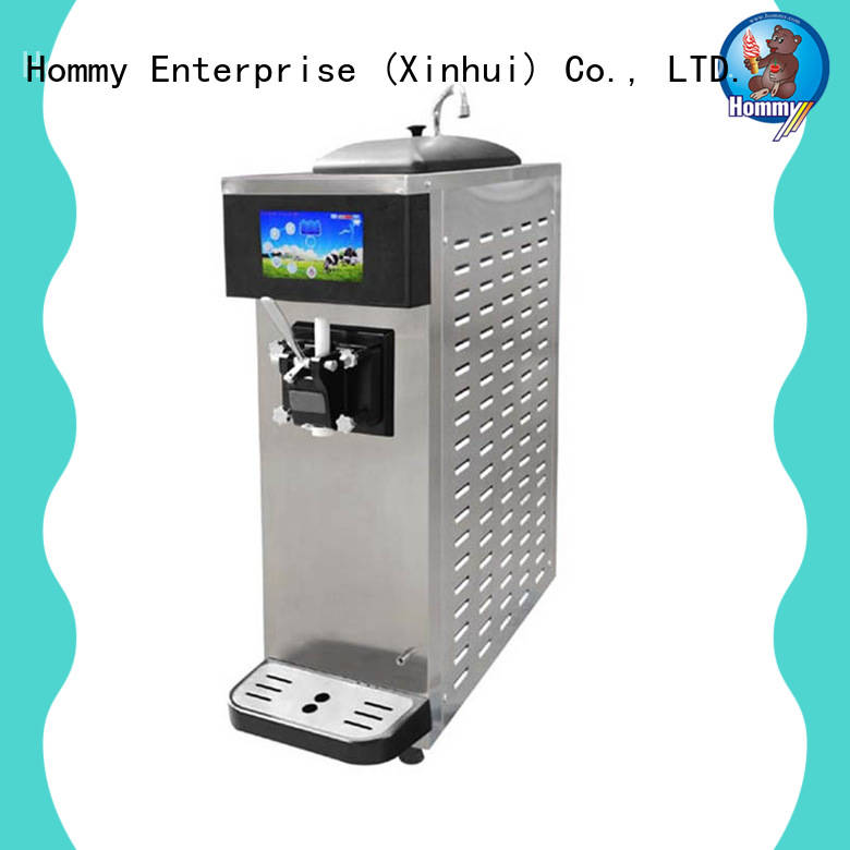 Hommy commercial soft serve ice cream machine solution for food shop