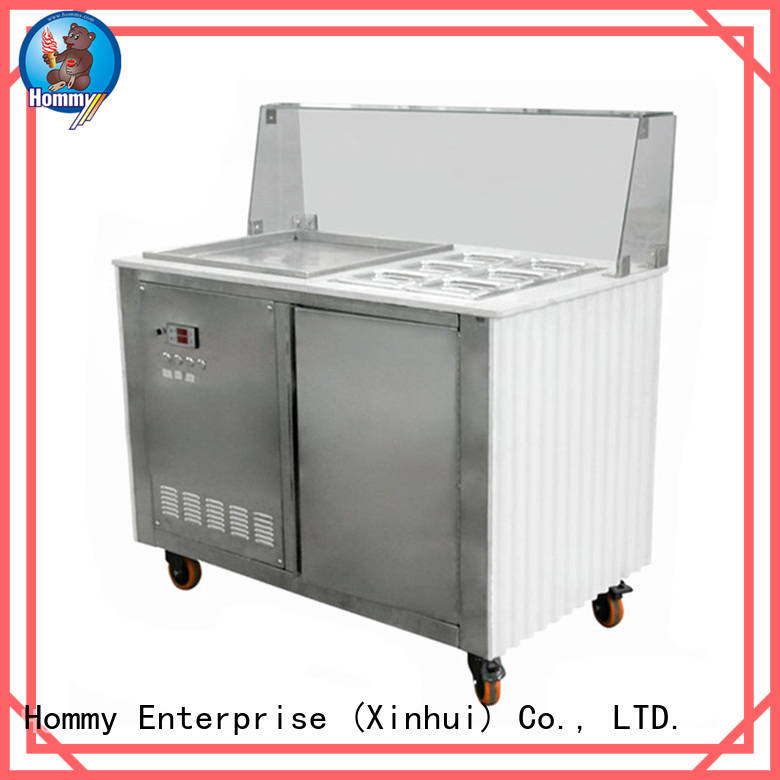 Hommy durable ice cream roll machine price renovation solutions for mall