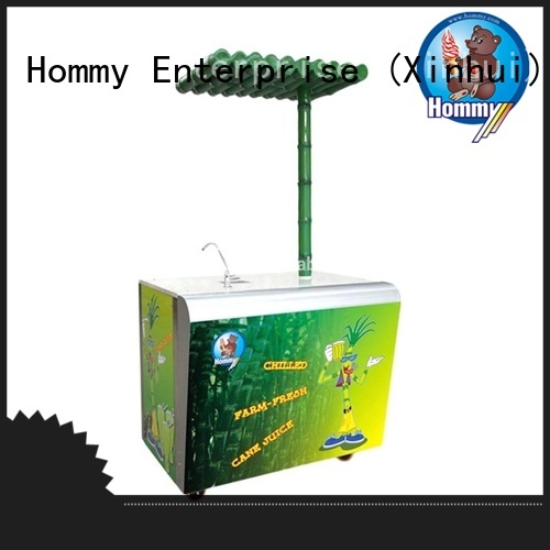 Hommy unreserved service sugarcane juice extractor hygienic for snack bar