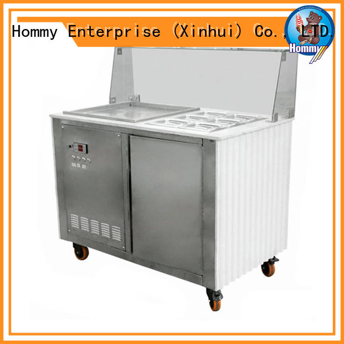 highly-efficient ice cream roll machine low-temperature effect renovation solutions for outdoor