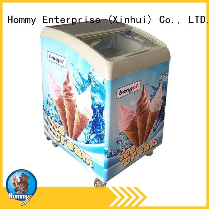 multifunctional ice cream display auto defrost from China for display ice cream