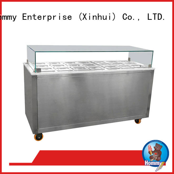 freezer ice cream display case factory directly sale for supermarket Hommy