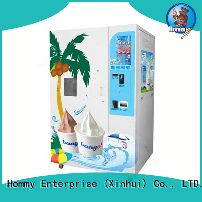 Hommy most popular vending machine ice cream supplier for beverage stores