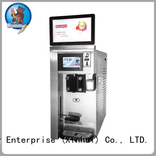 Hommy top ice cream vending machine high-tech enterprise for beverage stores