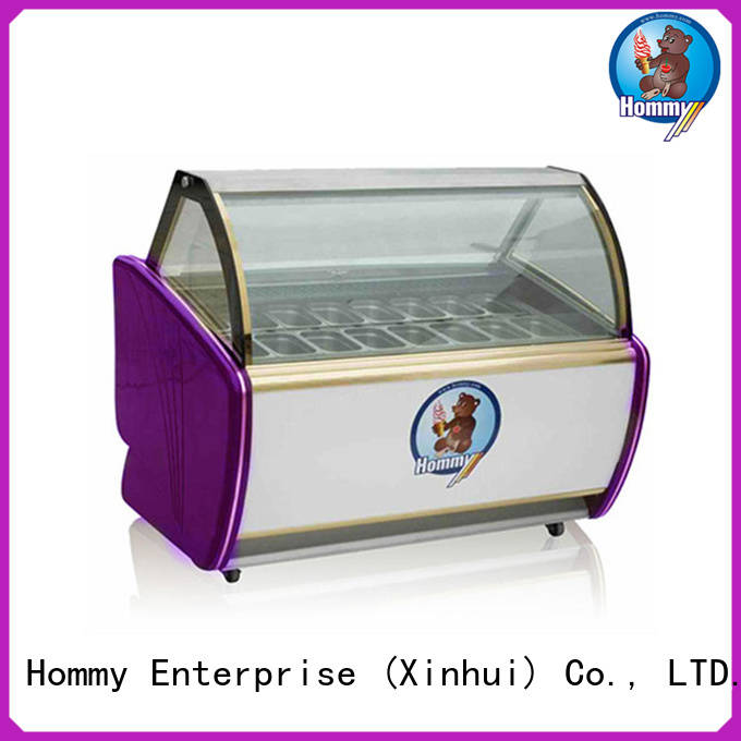 Hommy multifunctional popsicle freezer from China for display ice cream