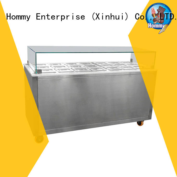 various colors ice cream display case showcase supplier for supermarket