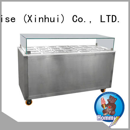 various colors ice cream freezer display case wholesale for ice cream shop Hommy