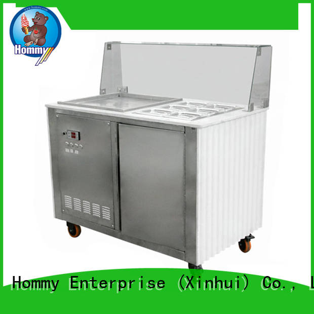 Hommy eco-friendly ice cream roll machine manufacturer for road house