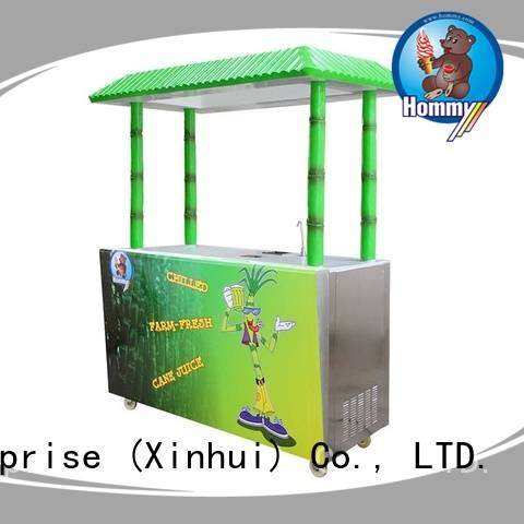 Hommy hygienic sugarcane machine manufacturer for supermarket