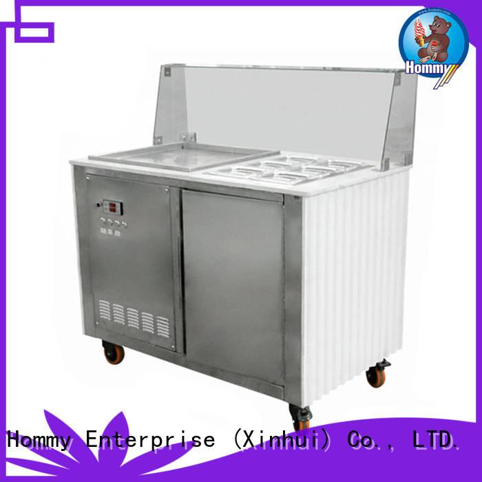 Hommy durable fried ice cream machine manufacturer for supermarket