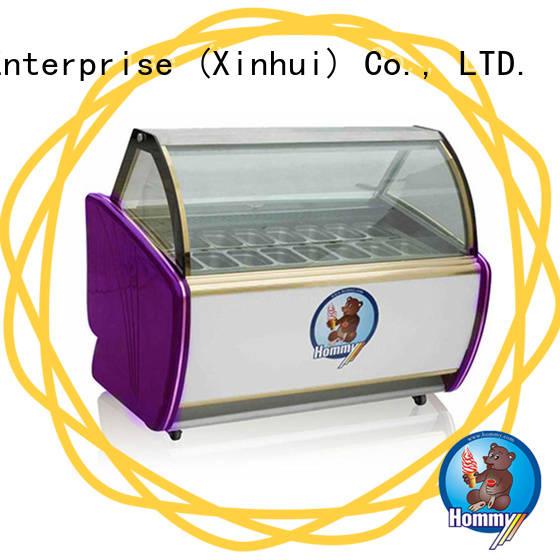 Hommy China ice cream display freezer manufacturer freezer gelato for supermarket