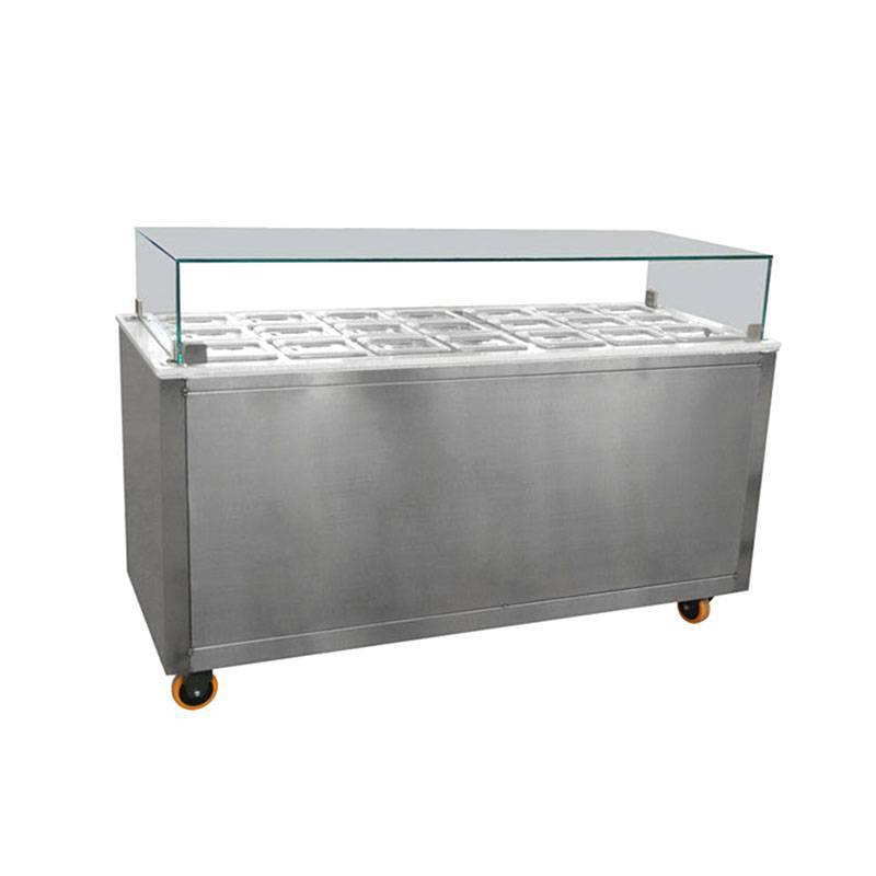 Toppings bar equipment&ice cream display freezer