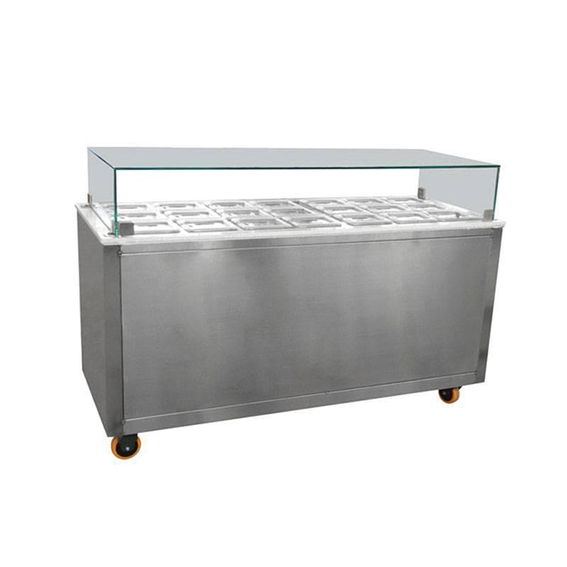 Toppings bar equipment&ice cream display freezer