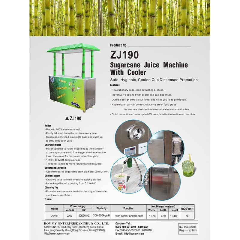Information of Sugarcane juice machine