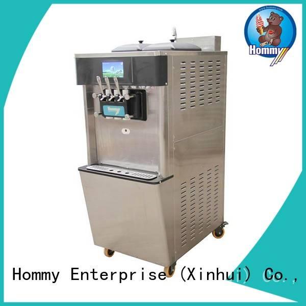 Hommy unreserved service soft ice cream machine supplier for supermarket