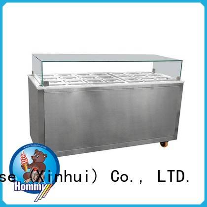 Hommy freezer ice cream showcase factory directly sale for display ice cream